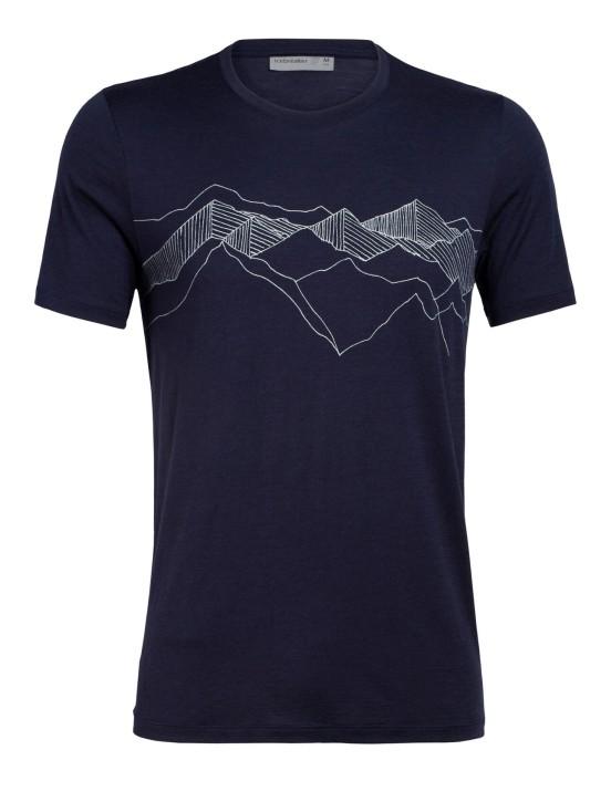 Tech Lite Short Sleeve Crewe Peak Patterns