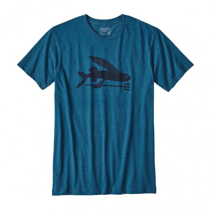 M's Flying Fish Cotton/Poly T-Shirt