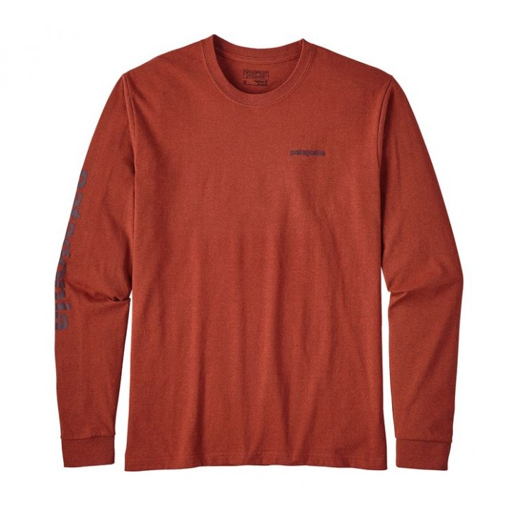 M's L/S Text Logo Cotton/Poly Responsibili-Tee