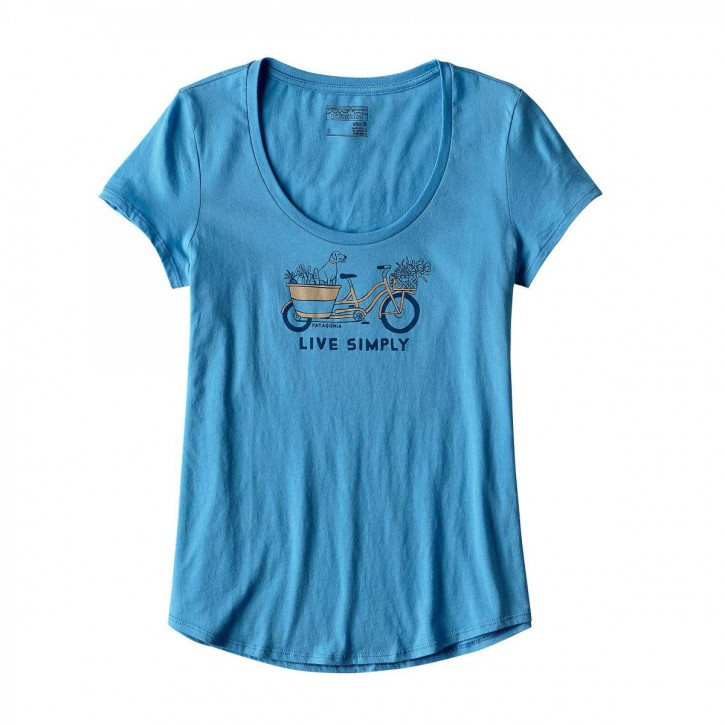 W's Live Simply Market Bike Cotton Scoop T-Shirt