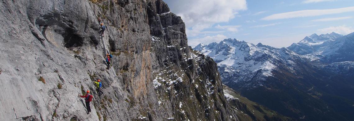 Klettern, Klettersteige